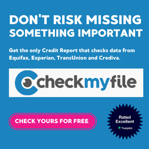 Dont risk missing something important Get the only Credit Report that checks data from Equifax, Experian, TransUnion and Crediva. See Your Multi Agency Credit Report Free Try it FREE for 30 days, then £14.99 a mon